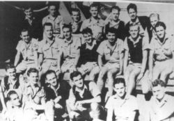 "RAAF ""Escapers"" from Tulagi & Taranboga Islands safely on board SS""Manoora"" bound for Sydney, 25.5.42."