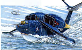 The Seamaster as drawn by Hank Caruso